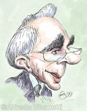 Giuliano Amato caricatura caricature portrait